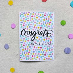 Congrats on Your New Job Greetings Card