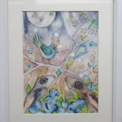 "🐦Framed Original Watercolour "" Le prince 1"" 🐰"