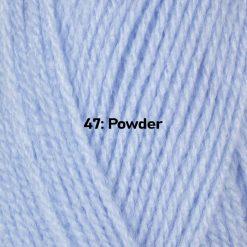 500g (5 x 100g) Genuine Robin DK Doubleknit wool yarn. Colour: Powder Blue. Free postage