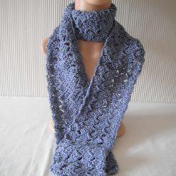 Cornflower Blue Crochet Scarf