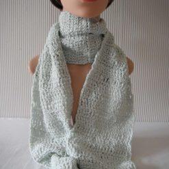 Mint Crochet Scarf