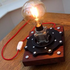 UNIQUE UPCYCLED STEAMPUNK STYLE TABLE LAMP