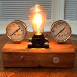 UNIQUE INDUSTRIAL STEAMPUNK STYLE TABLE LAMP