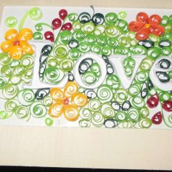 Personalised quilled artwork