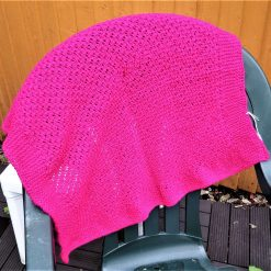 Baby blanket in fuchsia pink or Royal blue