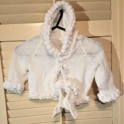 Baby snowball hooded glitter jacket and bootees