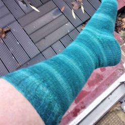 Blue/turquoise wool/nylon socks UK size 7 - 9