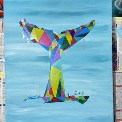 Whale Tail -original Acrylic art
