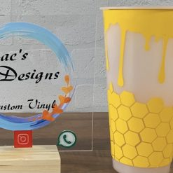 Dripping honey comb colour changing tumbler