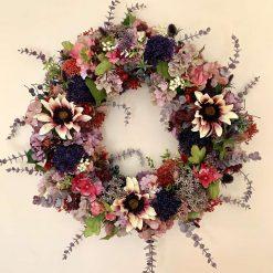 Dusty Pink Autumnal Wreath