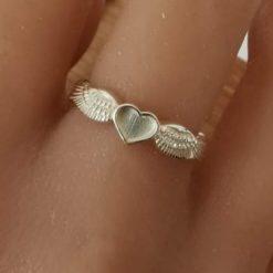Angel heart ring