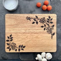 Roses Chopping Boards, Flower Serving Board, Wood Chopping Board, Hand Burned, Gift, Free UK Postage