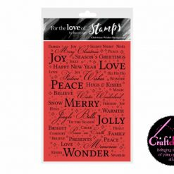Hunkydory - For The Love Of Stamps - Christmas Wishes Background A6 Stamp Set