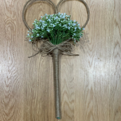 Gypsophila Heart Flower girl wand, Large heart wand, alternative bouquet, Rustic, White bouquet