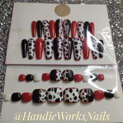 Dalmatian Dog Fashion Design Press On Custom Glue On Nails Set