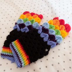 Crocheted Dragon Scale Gloves/ Hand Warmers