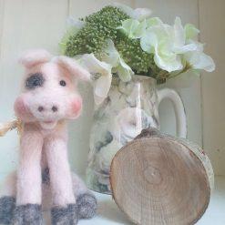 Needlefelt pig - Derek (old spot) Trotter