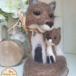 Needlefelt Fox - and Cub