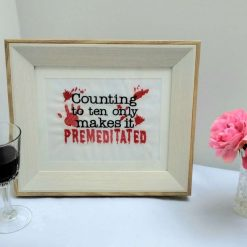 Premeditated Embroidery Picture in Frame from Sand Bags, St Ives by Naomi