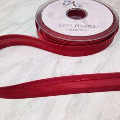 Pink satin pre folded bias binding 19mm