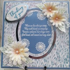 Luxury Handmade Sympathy/Bereavement - Thinking of You - Blue, White with verse in centre