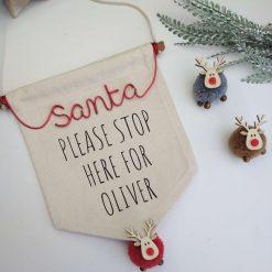 "Personalised "" Santa"" Christmas Banner Sign"