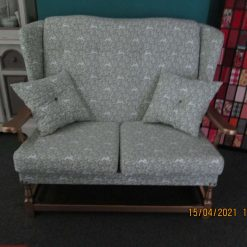 two seat sofa wooden frame upholstered seat