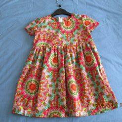 Girls summer dress, cotton dress, party dress, short sleeve dress age 4