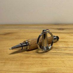 Hand turned wooden keyring pen touchscreen stylus podger 3