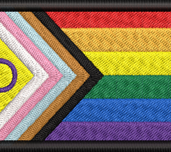 LGBT Gay Pride Patch and Badge - New More Inclusive Pride Flag