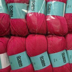1kg (10 x 100g) Genuine Robin DK Doubleknit wool yarn. Colour: Cerise. Free postage