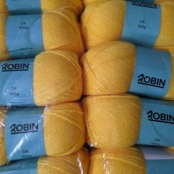 1kg (10 x 100g) Genuine Robin DK Doubleknit wool yarn. Colour: Sunflower. Free postage