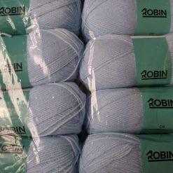 1kg (10 x 100g) Genuine Robin DK Doubleknit wool yarn. Colour: Powder Blue. Free postage
