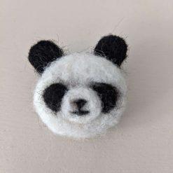 Needle Felted Panda brooch