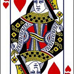 Queen of Hearts DMC cross-stitch pattern. PDF download
