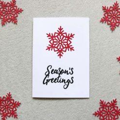 Christmas Season's Greetings Greetings Card