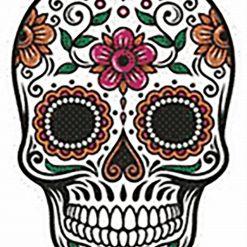Sugar Skull 1 DMC cross-stitch pattern. PDF download