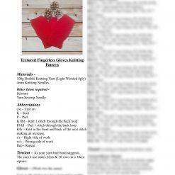 Fingerless Gloves Knitting Pattern - Downloadable Pattern
