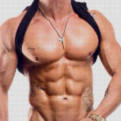 Naked Male Torso DMC cross-stitch pattern. PDF download