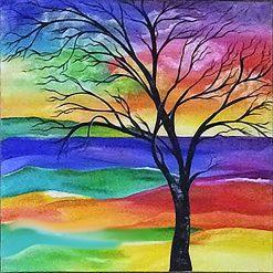 Abstract tree 60 x 40cm