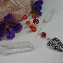 Opalite charm necklace with Tigers Eye & Star Charm