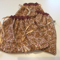 3 x Fabric Lined & Reusable Christmas or Party Gift bags made with Festive Fabric