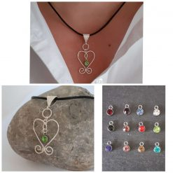 Personalised Birthstone Pendant Necklace