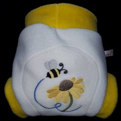 Embroidered fleece soaker - nappy cover