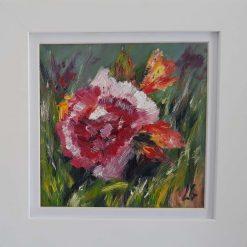 Original Art-Pink Rose