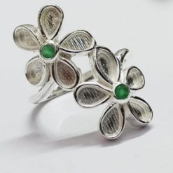 Wave ring memorial cremation jewellery