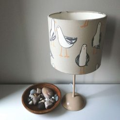 GULLS - Limited Edition handmade double sided drum lampshade 20cm or 30cm diameter