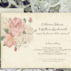 Wedding Invitations - Personalised for Day or Evening - Pack of 30 for £24.99 - Other Pack Sizes Available - Envelopes Included