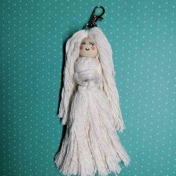 Macrame Doll keyring tree ornament handmade