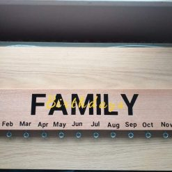 Hard wood hand made birthday calendars